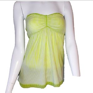 Green Tube Top Abercrombie and Fitch